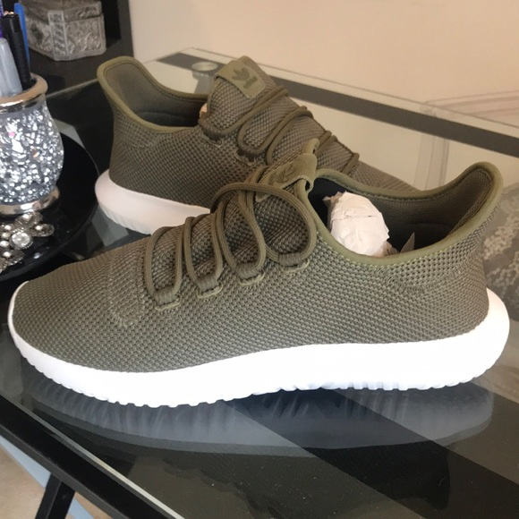 cheap for discount 68677 45683 Adidas Tubular Shadow Olive Green & White NWT
